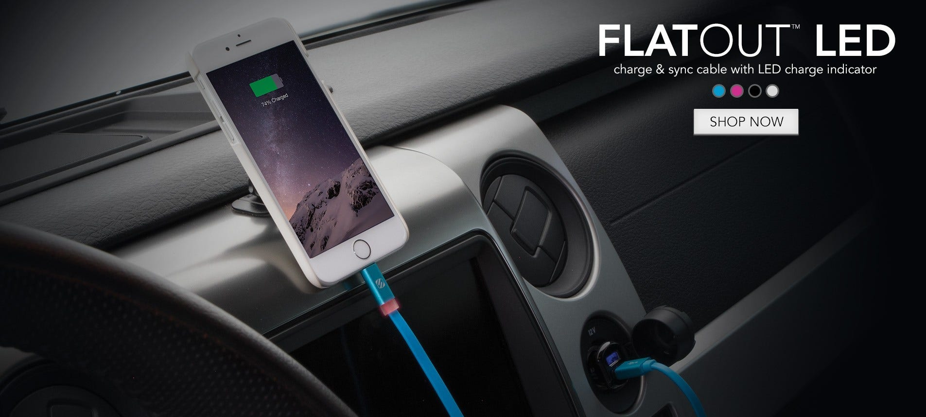 flatOUT LED charge sync cable