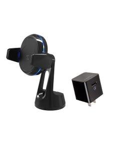 Qi Grip Window/Dash Mount  & Home Charger Bundle