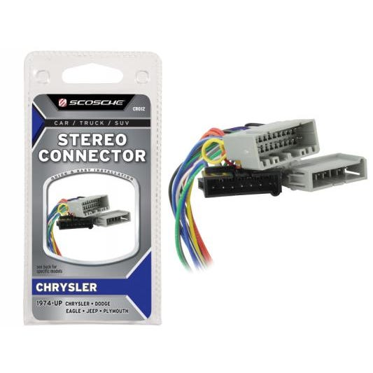 Chrysler Car Stereo Connector 1974 Up