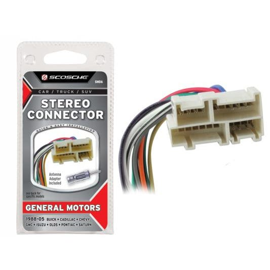 88 05 Gm Stereo Connector Gmda Stereo Connector Scosche