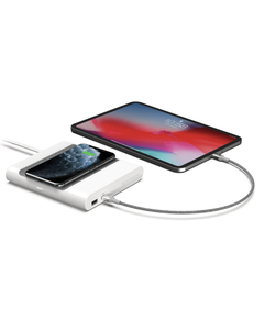 White  EndCap Dual-port Charger for smartphones, tablets and portable gaming systems