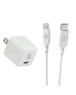 USB-C Fast Charge & 4ft USB-C to Lightning Cable Bundle in White