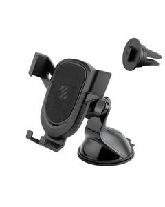 Suction cup mount with adjustable vent clip for all phones