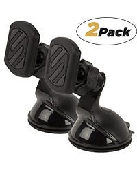 2-Pack Suction Cup Phone Mount Black