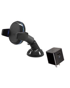 Qi Grip Double-Pivot Mount  & Home Charger Bundle
