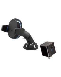 Qi Grip Double-Pivot Mount  & Home Charger Bundle