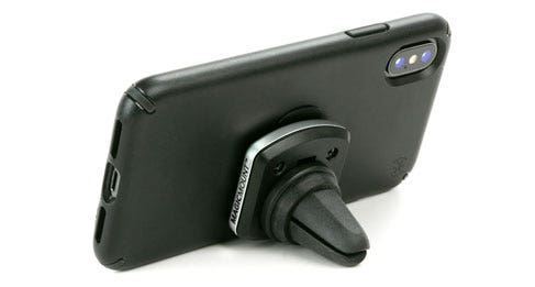Mount can be used as a phone kickstand