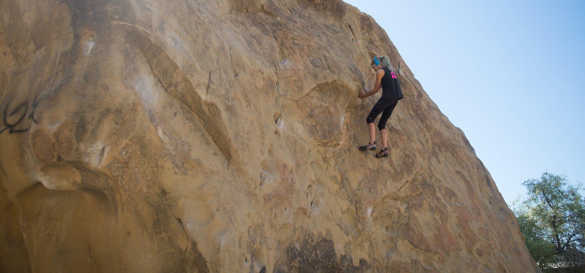 Dinah Marcuson Rock Climber