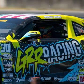 close-up of car racer