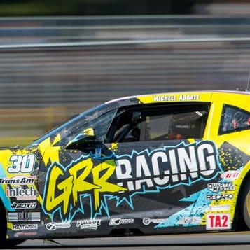 close-up racing car