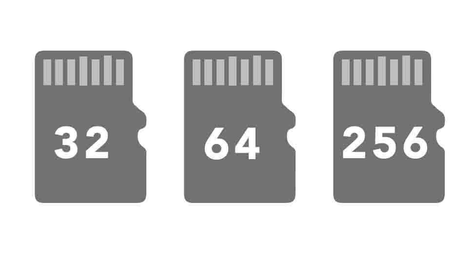 64 GB Flash Memory SD Card Black 32 GB DophiGo