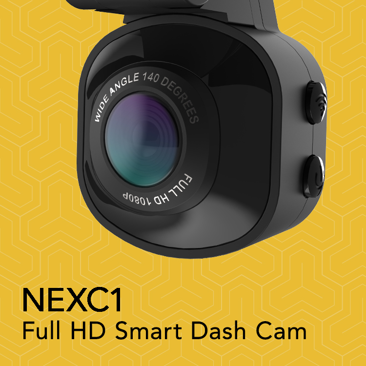 NECX1-Full HD smart dash cam Graphic