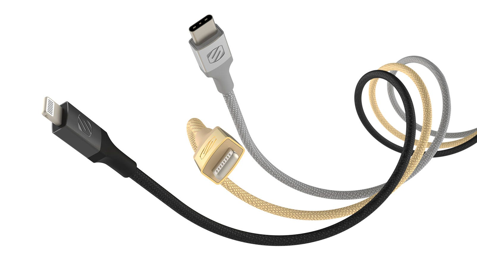 USBc to Lightning cable connecting an iPhone to a MacBook