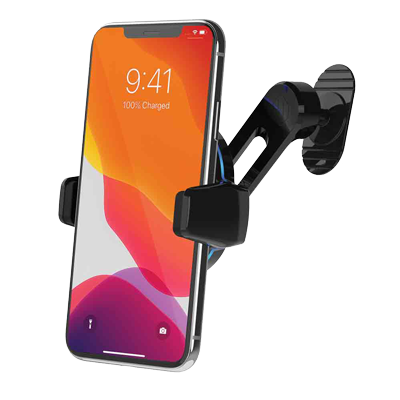 image of charging phone mount with swing arm