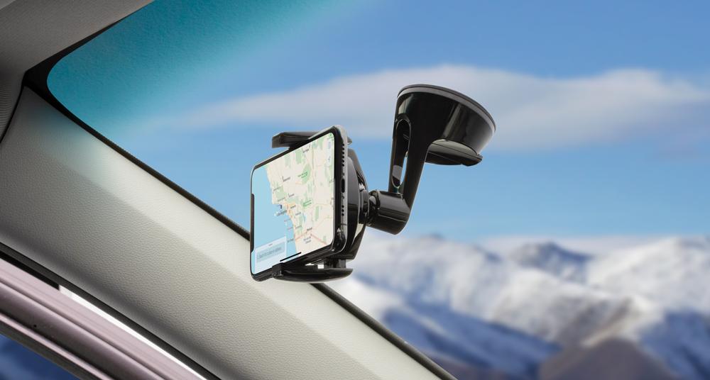 Window dash mount for phones