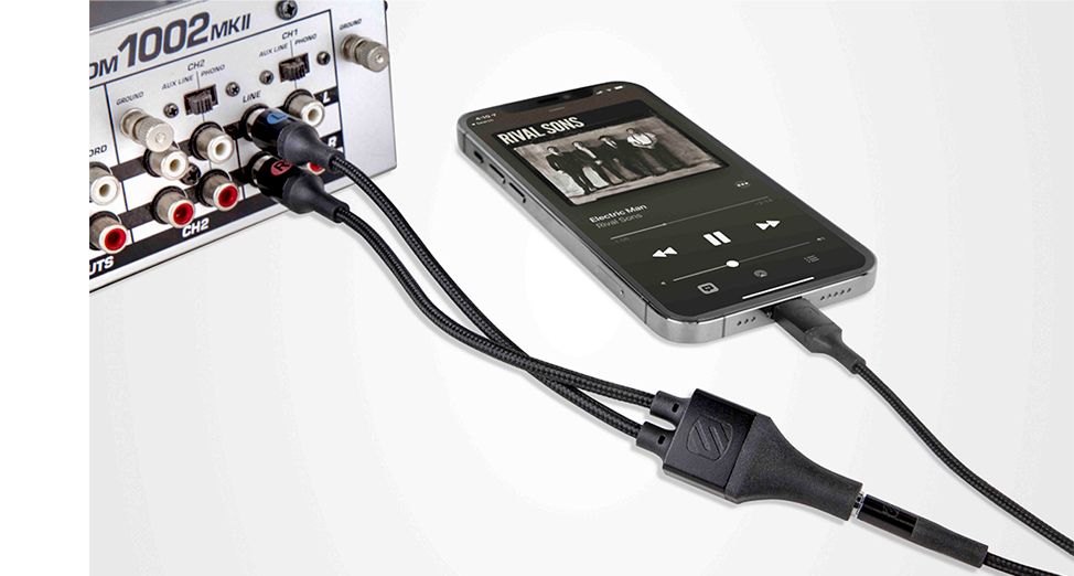 Lightning audio cable and adapter