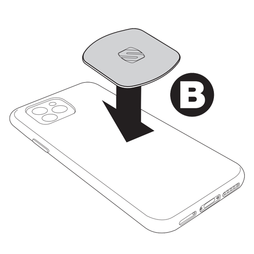 MagicPlate icon B- Position plate in case