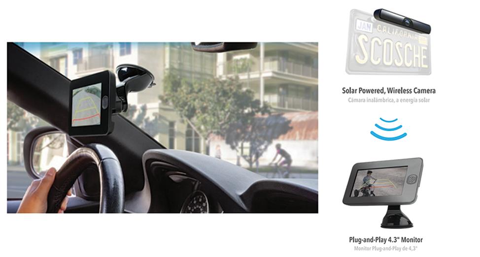 Wireless-Solar Powered Backup Camera System