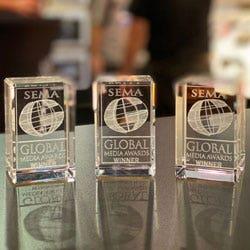Three SEMA Global Media Awards given to Scosche at SEMA 2019
