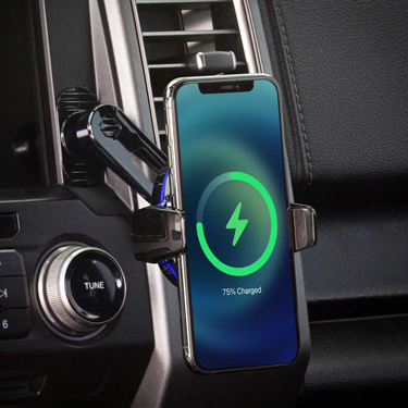 image of iphone on phone mount