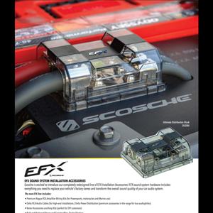 Image of EFX Sound System Installation Accessories One-Sheet Flyer 2021