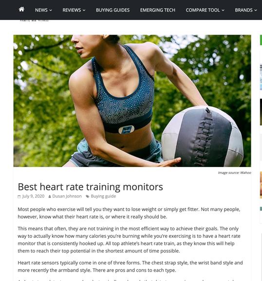 Image of Screen shot gadget & wearables online article