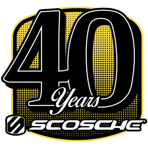 scosche 40th year logo