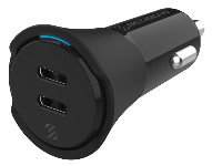 CPDCC40 Dual 20W USB-C Car Charger Graphic